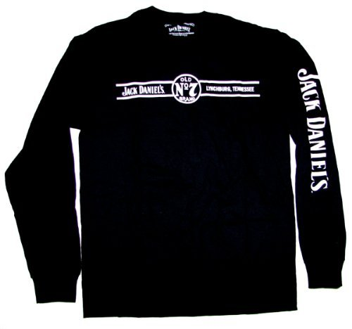 Jack Daniels Men's Daniel's Long Sleeve Tee Black -