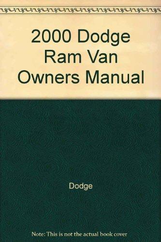 2000 Dodge Ram Van and Wagon owners manual (Ram Wagon Owners Manual Van)