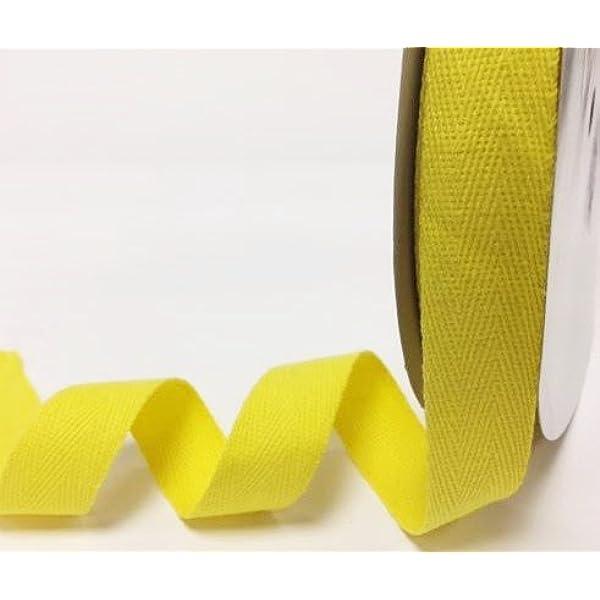 Berties Bows Cinta en espiga de algodón amarillo, de 25 mm y 4 m ...