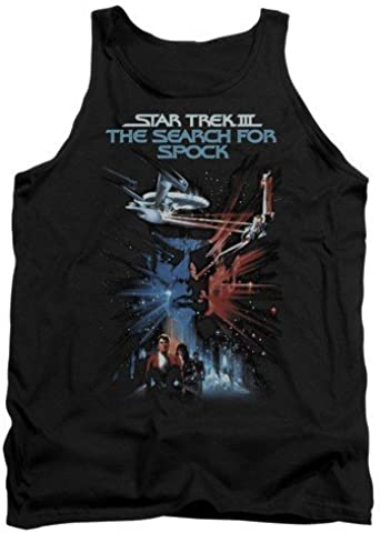 Adult Tank Top Black44; Large Trevco Star Trek-Search for Spock-Movie