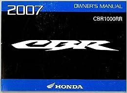 31MEL630 2007 Honda CBR1000RR Motorcycle Owners Manual