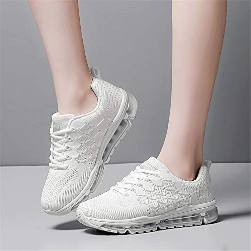 Shoes Trainers White Monrinda 4 9 Women Men Jogging Fitness Size Athletic Outdoor Air Running Shock 5 Absorbing Sport Shoes Breathable Hrxq6wH