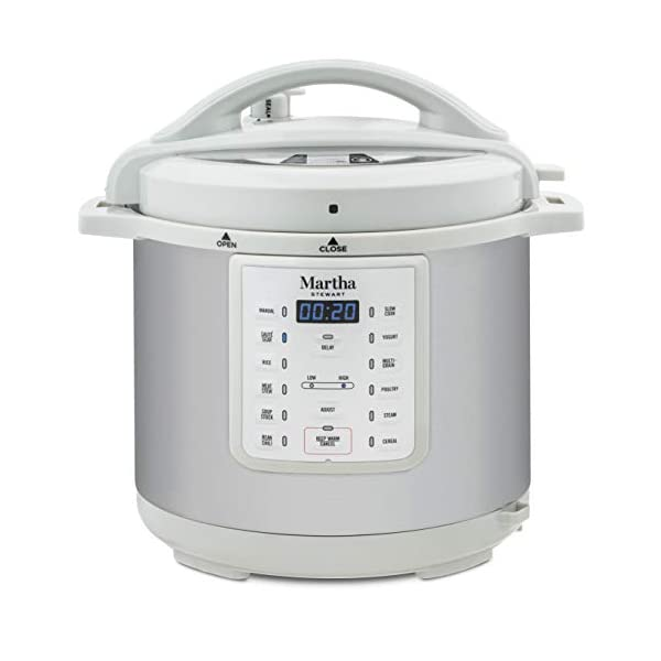 Martha Stewart 8 Qt 7-in-1 Everything Pressure Cooker, Programmable Slow Cooker, Rice Cooker, Steamer, Sauté and Sear… 1