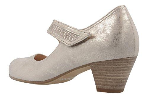 Comfort Spangenpumps in Damen Gabor Schuhe Platin Übergrößen aq8aSd