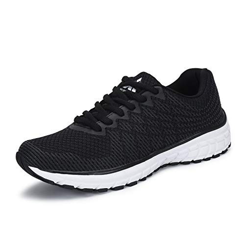 Mens Womens Running Shoes Lightweight Non Slip Breathable Mesh Sneakers Athletic Waking Gym Trail Runner