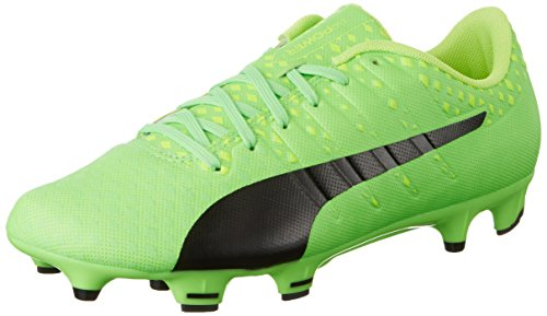 Puma Evopower Vigor 3 Fg, Botas de Fútbol para Hombre Verde (Green Gecko-puma Black-safety Yellow 01)