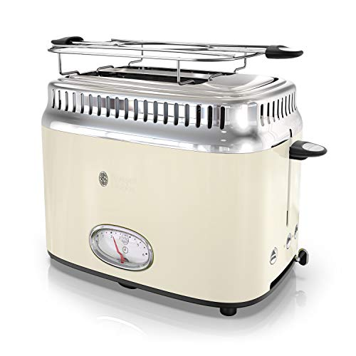 Cream Retro - Russell Hobbs TR9150CRR Retro Style Toaster 2-Slice Cream