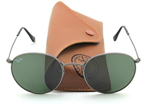Ray-Ban RB3447 029 Retro Round Matte Gunmetal Sunglasses - Round 029 Metal Rb3447