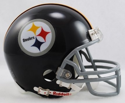 Helmet Steelers Pittsburgh Throwback (Pittsburgh Steelers 1963-76 Throwback Replica Mini Helmet w/Z2B Face Mask)