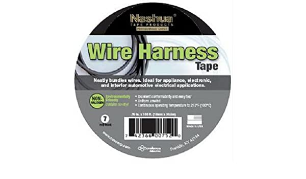 Nashua Wire Harness Tape on wheel tape, tail light tape, hose tape, washi tape, wire loom clips, muffler tape,
