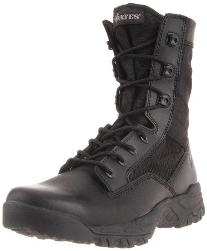 Bates Mens Zero Mass Black 8 Inch Leather Nylon Uniform Boot  Black  7 M Us