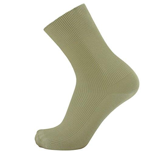 SOK 100% Cotton Socks Men's Sand 3-pack Thin - shoe size: 11-12