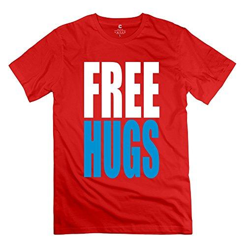 ZZY Geek Free Hugs Tee - Men's Tshirts Red Size XS