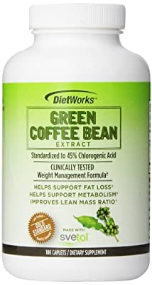Dietworks Green Coffee Bean Extract 180 Count Caplets