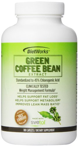 Dietworks Green Coffee Bean Extract Caplets, 180 Count