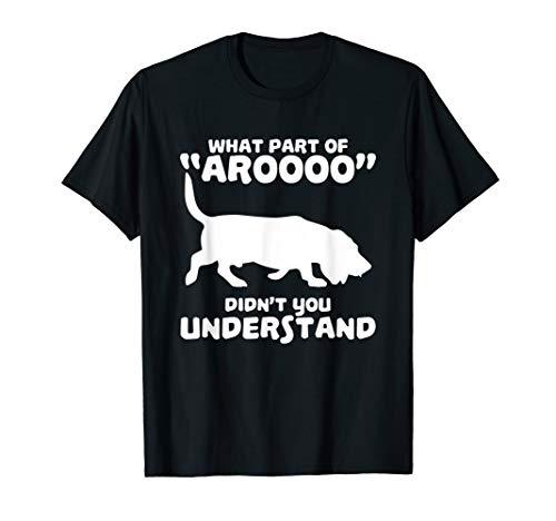 Funny Bassett Hound Howl Tshirt - Design Bassett