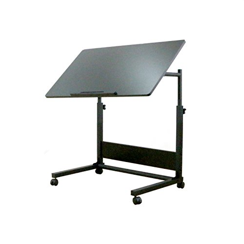 UNICOO-Height Adjustable Laptop Cart, Computer Desk, Sofa Side Table, Couch Table, Bedside Table, Drafting Table,Drawing Desk. (Black U05) by UNICOO