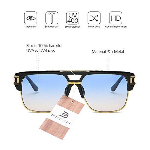 Hombre UV400 Estilo de para Delicada libre de Mujeres BOZEVON las Unisex 06 aire Vendimia sol Personalidad de la Gafas al 6PW4q
