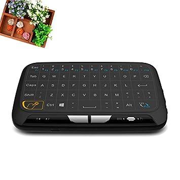 Tiptiper 2,4 GHz Mini Teclado inalambrico Y Mouse pad táctil handheld del teclado Para Smart TV Tablet PC portátil: Amazon.es: Electrónica