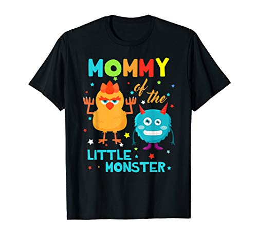 Mommy Of The Little Monster Birthday Family Monster Shirts]()