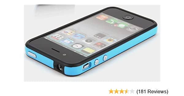 sports shoes d6a51 8fc59 Blue and Black Premium Bumper Case for Apple iPhone 4S / 4 - (AT&T,  Verizon, Sprint)