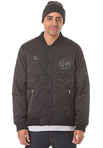 LRG Men's Corpse Corps Bomber Jacket, Black, Large by LRG