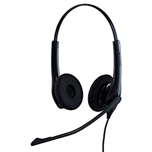 Jabra Biz 1500 Quick Disconnect On-Ear Stereo Headset – Corded Headphone with Noise-cancelling Microphone and Volume…