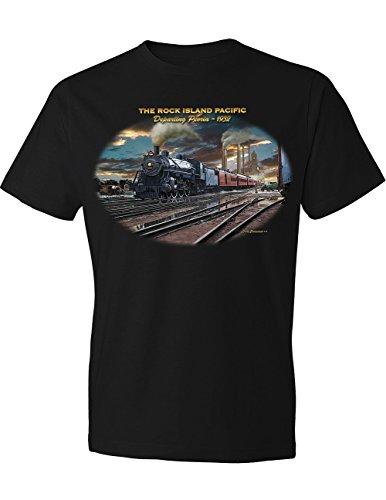 Rock Island Boxcar - Rock Island Pacific Railroad T-Shirt, Departing Peoria 1932