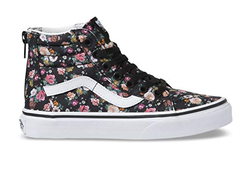 Vans Kids Butterfly Floral Sk8-Hi Zip Skate Shoes (10.5 Little Kid, (Butterfly Floral) Black/Black)