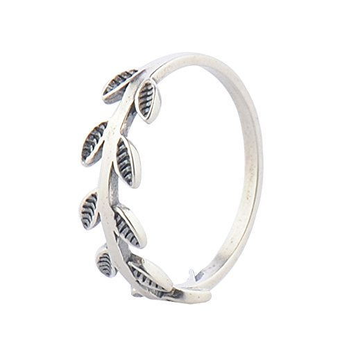 leaf ring sterling silver - 7