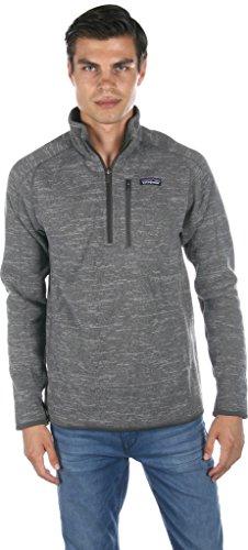 Patagonia Ms Better Sweater 1/4 Zip Casual Jacket Nickel Mens - Men Nickel