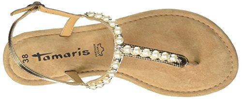 Tamaris Women's 28158 Sling Back Sandals, Rosé (Rose Metallic 952) Gold (Light Gold 909)