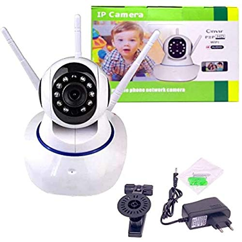 Câmera Ip 3 Antenas Wireless Sem Fio Onvif Wifi Hd Sensor Noturna Rotação App Smartphone
