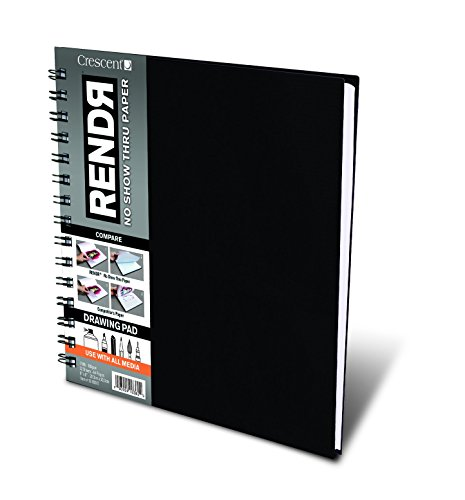 "Crescent Creative Products 8-inch RENDR Wire-Bound Sketchbook, 8"" x 8"""