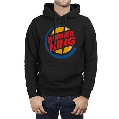 Burger King King - CLH Long Sleeve Fleece Burger-King-Logo- Mens Pullover Hoodie Sweater
