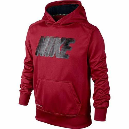 Nike Knockout Hoody 2.0 YOUTH Boy's 8-20 ATHLETIC SHIRT HOODIE red (M 10-12)