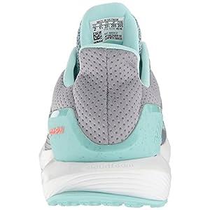adidas Girls' RapidaRun K, Grey/White/Clear Aqua, 5 M US Big Kid