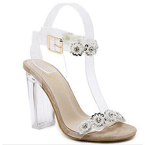 pompa della ZHZNVX argento per Scarpe oro Casual Silver base Comfort Estate donna tacco Chunky sandali pu Primavera XUq1wgYAq