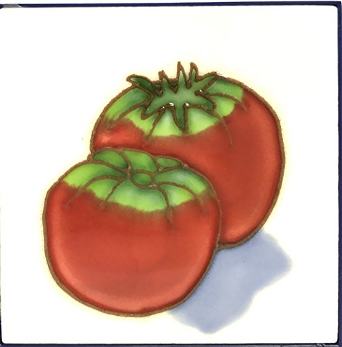 1 , RED TOMATOES , Decorative Tile, Art on a Ceramic Tile, about, 4