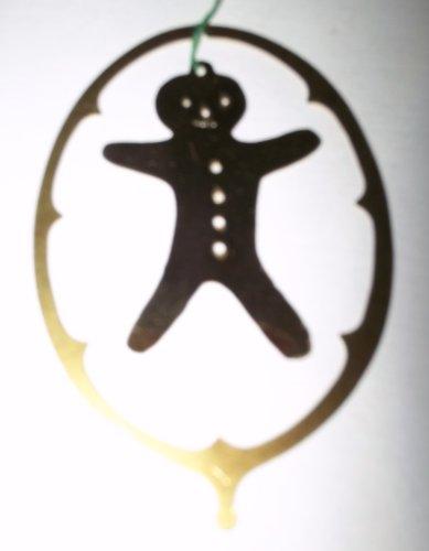Enameled brass ornament- Gingerbread man