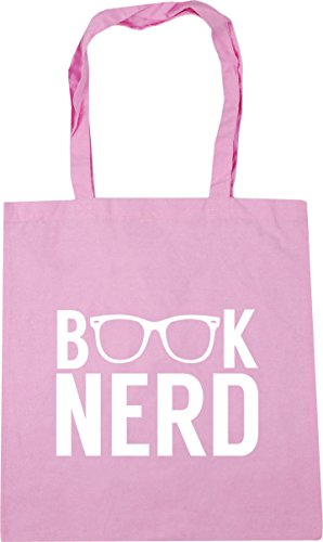 Gym litres Bag Pink nerd 10 Classic Shopping x38cm 42cm Book HippoWarehouse Beach Tote BwInS