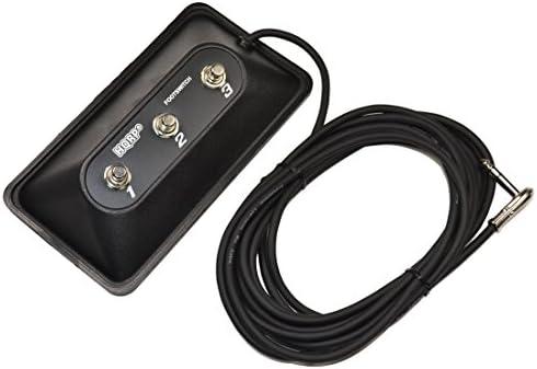 HQRP 3-Button Guitar Amp Footswitch compatibleDigiTech FS3X replacement Jamman Solo XT RP360 Trio Whammy DT