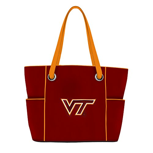 (Charm14 NCAA Virginia Tech Hokies Deluxe Tote Bag with Embroidered Logo)