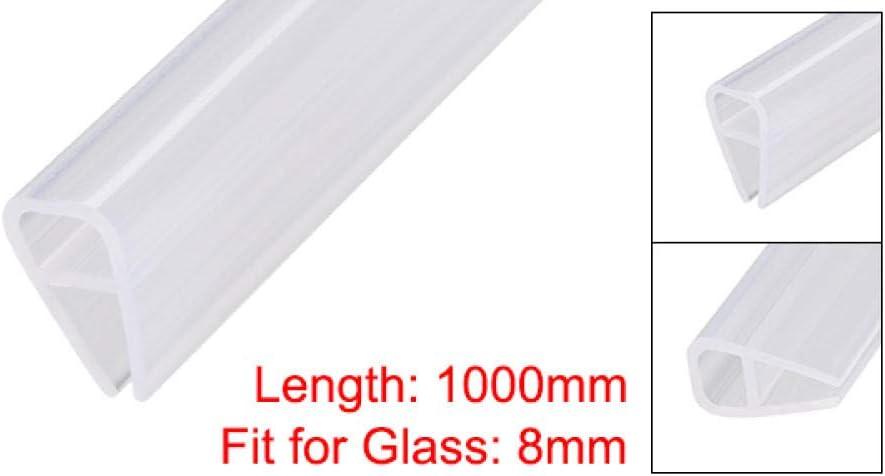 1Pcs Frameless Glass Shower Door Sweep Bottom Side Seal Strip U-Type W 8Mm Drip Rail 6-12Mm Glass X 1//2//2//3M Length-Verre 8 Mm X1M-L