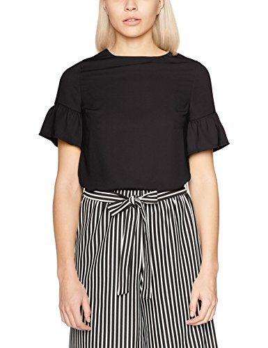 New Look Flutter Sleeve, Maglia a Maniche Lunghe para Mujer negro