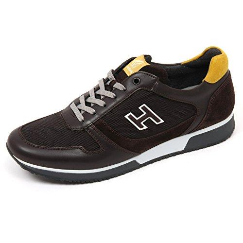 C8232 sneaker uomo HOGAN H198 SLASH H FLOCK scarpa marrone scuro shoe man Marrone scuro El Más Barato En Línea Barata El Pago De Visa Precio Barato Venta Recomienda PtUClLWgI7