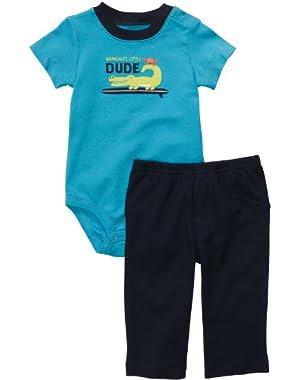 Carter's Baby-boys Grandma's Little Dude Bodysuit Set