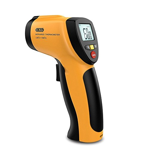 Dr.Meter IR-20 122F-1022F Non-Contact Digital Laser Infrared Thermometer Temperature Gun with Backlit LCD Display