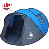 HUI LINGYANG 4-6 Person Easy Pop Up Tent- Rainproof, Automatic Setup, Double Layer – Instant Family Tents for Camping,Hiking & Traveling