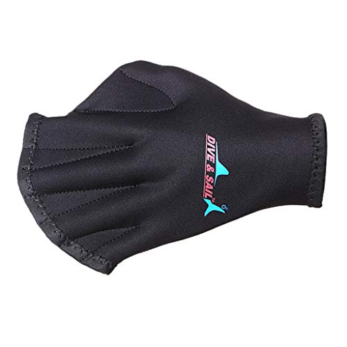 Fine Ultra Thin Hand Fins,Silicone Webbed Swim Training Gloves Closed Full Finger Diving Snorkeling Gloves for Unisex Adult Kids